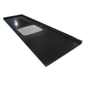 Single Bowl Black Quartz Vanity Top Supplier