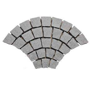Fan Shaped Flamed Basalt Cubes Paver Supplier