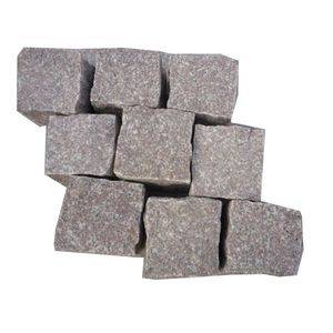 China Pink Granite Cobblestone Supplier/Manufactuer