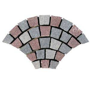 Fan Shaped Colorful Granite Cubic Supplier