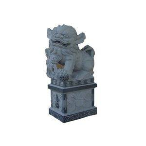 Blue Limestone Lion Animal Statue Supplier/Exporter