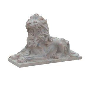 Pink Marble Lion Carving Animal Statue Supplier/Exporter