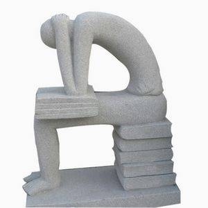 Read Man Abstract Stone Statue Supplier