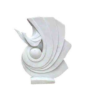 White Bird Marble Abstract Stone Statue Supplier