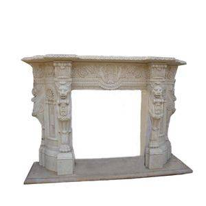 Indoor White Travertine Fireplace Surround Supplier