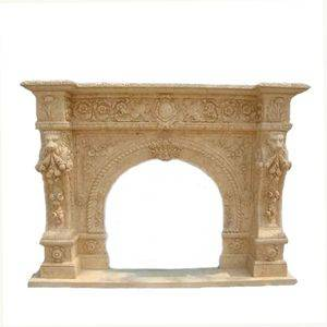 European Wall Travertine Fireplace Mantel Supplier