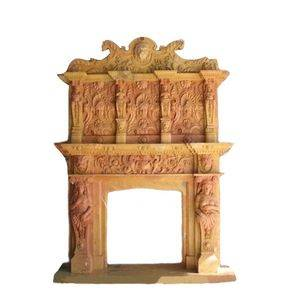 Classic Garden Travertine Fireplace Mantel Supplier