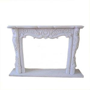 FS White Marble Fireplace Mantel Supplier