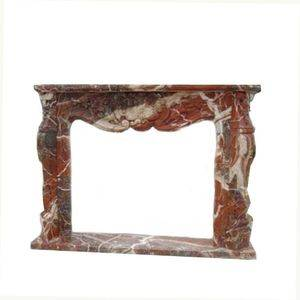 Import Brown Marble Fireplace Mantel Supplier