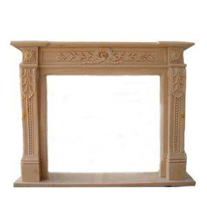 Butter Yellow Marble Fireplace Mantel Supplier