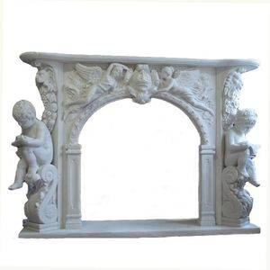 Chapel Italy Marble Fireplace Mantel Supplier
