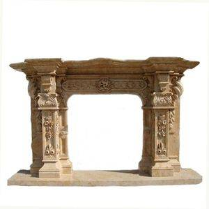 Complex Carving Marble Fireplace Mantel Supplier