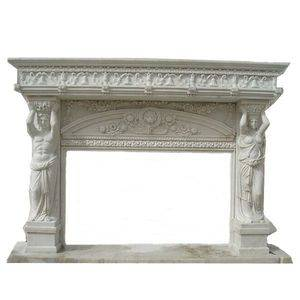 Home Carved Marble Fireplace Mantel Supplier