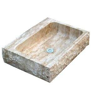 Big Holes Travertine Kitchen Sink