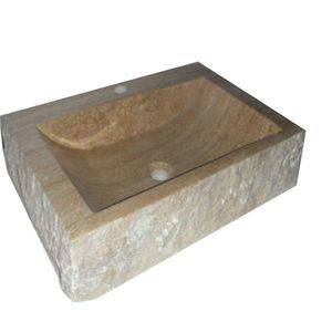China Rectangle Travertine Stone Sink